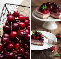 Cherry Chocolate Raw Cheesecake