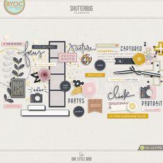 Shutterbug | Digital Scrapbooking Elements | One Little Bird