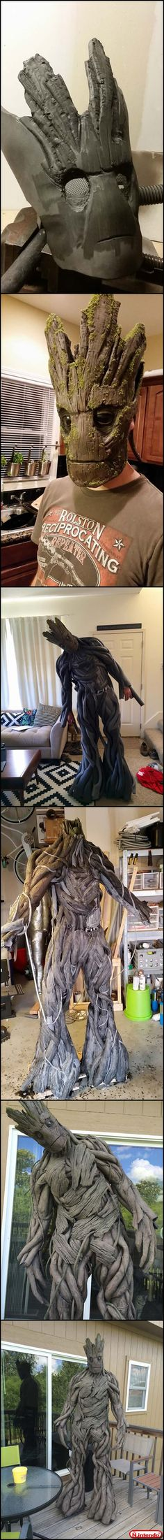 Groot Cosplay, this would be awesome to make. Cool Costumes, Cosplay Costumes, Halloween Costumes, Cosplay Tutorial, Cosplay Diy, Disney Pop, Live Action Film, Baby Groot, Movie Props