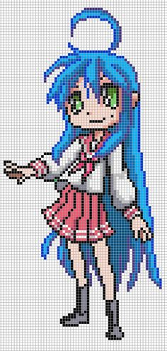 minecraft pixel art anime - Google Search