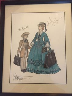 daybreaq:  I was going to just buy baked goods at the Broadway Flea market but then I went to the auction. Got this little sketch by the Tony Award winning costume designer Catherine Zuber! Signed by Zuber, Kelli O'Hara, and Jake Lucus. Honestly, I thought this was the coolest thing at the auction!