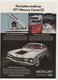 =-=1971 Mercury Comet GT Advertisement from 1970 Magazine https://plus.google.com/+JohnPruittMotorCompanyMurrayville/posts