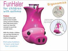 Inhalador para niños con asma