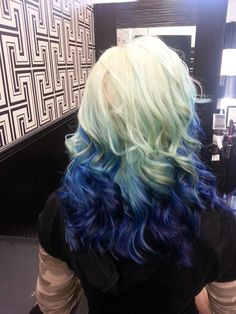 Amazing hair color - like the ocean meets the shore