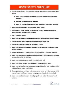 Safety Checklist - PDF Home Safety ChecklistHome Safety Checklist Home Safety Checklist, Home Safety Tips, Safety Rules, Safety And Security, Home Security Systems, Home Protection, Disaster Preparedness, Survival Prepping, Survival Skills