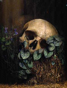 """Elogio della polvere( detail) oil , human ashes, on wood . """