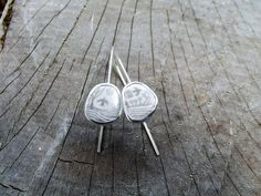 Swifts enamel and eco silver earrings by ThemSilverSeas on Etsy