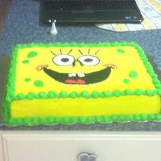 Idea: Spongebob birthday cake for my Anna's birthday