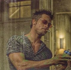 """Tyler Durden: """"Go on in and celebrate. Fight Club 1999, Fight Club Rules, Fight Club Brad Pitt, Tyler Durden, Brad And Angelina, David Fincher, This Is Your Life, Cultura Pop, Pretty People"""