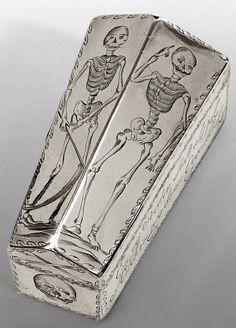 Memento Mori Mini Coffin (c. 1700).                                                                                                                                                                                 More