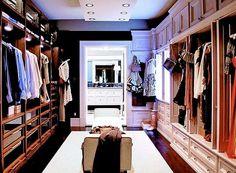 if the lottery is won. #closet #wardrobe #walk-in wardrobe #clothes