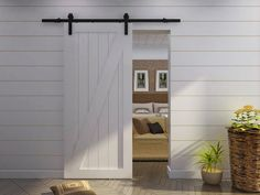 Create Beautiful Space Using Barn Doors Interior: Barndoor Hardware With Barn Doors Interior For Home Interior And Wood Paneling Also Wicker Planters With Wood Floors And Sectional Sofa For Bedroom Decor Plus Interior Sliding Barn Doors For Sale