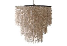 Coco Stick Chandelier, Off-White