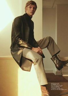 Top Model Tim Schuhmacher Is Secret Agent for L'Express STYLES Paris