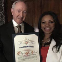 City of Los Angeles Award from Mayor Eric Garcetti - Aubrey Chernick, Mykesha Robinson