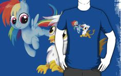 ======= Shirt for Sale =======     My Little Pony - Filly Rainbow Dash and Gilda tshirt by Kaiserin   =========================   #mlp #season5