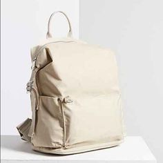 Urban Outfitters Nylon Cream Backpack Cream Backpacks 69eabe6f6e8a5