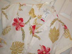NEW! WOMENS large UNIFORM JOHN PAUL RICHARD s/s ALOHA HAWAIIAN SHIRT top BLOUSE #Uniform #Blouse #Casual