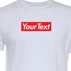 4840aad4 your text or word custom hype BOX LOGO shirt tee (White Gray Black S-4XL)