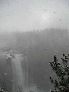 Snoqualmie Water Falls in the Snow, Fall City, Puget Sound, Washington State, USA (photo by Simone Cannon)