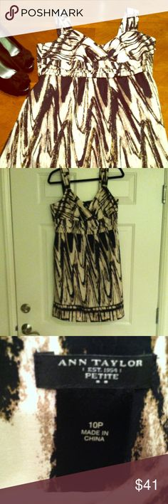 Ann Taylor Petite Dress **Like New**Beautiful Ann Taylor Petite Dress *** Size 10P*** Beautiful  for a upscale or casual occasion. This dress is fully lined. Ann Taylor Dresses