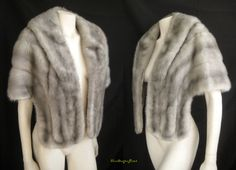 delicious silver-blue vintage mink stole, only at moxiefurs.com *SOLD*