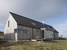 Husabost - The Long House - Rural Design Architects - Isle of Skye and the Highlands and Islands wood siding - lots of good stuff from Rural Design Long House, Rural House, Modern Barn, Residential Architecture, Architecture Details, Building A House, House Plans, New Homes, House Design