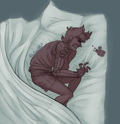 *wakes up*//Tord:Babe!Owww help!//*takes off his robot arm*Shhh it's ok it's ok//Tord:*lays in her lap**teary eyed*//Shh don't cry..*rubs his left arm*//Tord:Thanks honey...*falls asleep*//*sleeps*