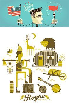 Graphic Design & Illustrations by Alex Perez   Inspiration Grid   Design Inspiration