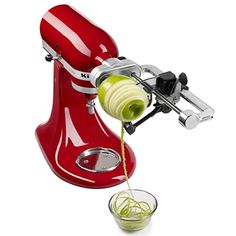 News KitchenAid KSM1APC Spiralizer Attachment with Peel, Core and Slice   buy now     $89.99 Reinvent classic meals and inspire your culinary creativity with the versatile KitchenAid Spiralizer with Peel, Core and Slice... http://showbizlikes.com/kitchenaid-ksm1apc-spiralizer-attachment-with-peel-core-and-slice-2/