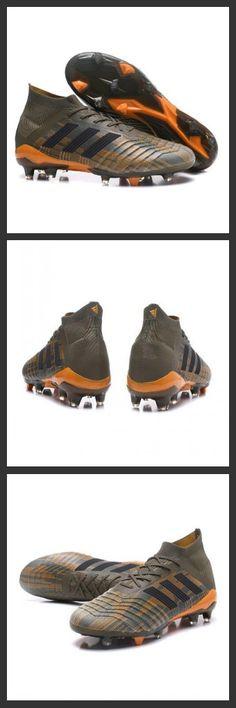 bb455b2a736ea Tacchetti da Calcio Adidas Predator 18.1 FG Oliva Nero Bright Orange