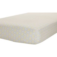 Found it at Wayfair - Classic Collection Yellow/Gray Print Fitted Crib Sheet