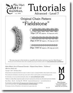 Chain Tutorial  Fieldstone Pattern  PDF by dylonwhyte on Etsy