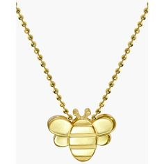 Women's Alex Woo 'Little Seasons' Bee Pendant Necklace ($710) ❤ liked on Polyvore featuring jewelry, necklaces, honey bee jewelry, bumblebee necklace, alex woo jewelry, alex woo and bumble bee jewelry
