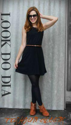 Look vestido preto básico  Www.fashionmarigoes.blogspot.com.br