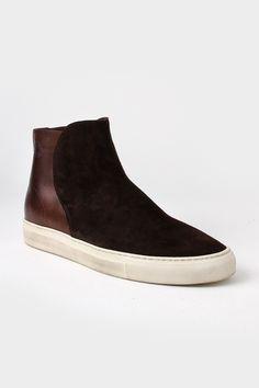 get cheap 702cf 26614 Buttero Slip-On Chukka Sneakers Dark Brown