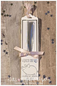Verpackung für Wunderkerzen zu #silvester mit den #glücksschweinchen von #stampinup, #Stampin@firstBloghop #kidesosstempelwelt #happynewyear #makeawish