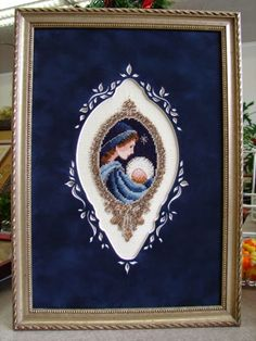 Gorgeous matte and framing make this piece come alive Celtic Cross Stitch, Cross Stitch Angels, Xmas Cross Stitch, Counted Cross Stitch Patterns, Cross Stitch Designs, Cross Stitch Embroidery, Quilt Stitching, Cross Stitching, Cross Stitch Pictures