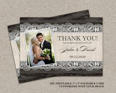 Hey, I found this really awesome Etsy listing at https://www.etsy.com/listing/176195457/wedding-thank-you-photo-card-rustic