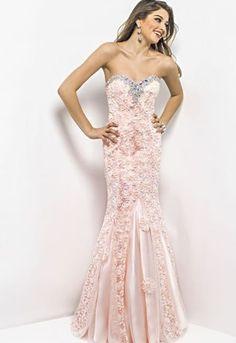 Peach Fishtail Gown  Mermaid Bridesmaid gown