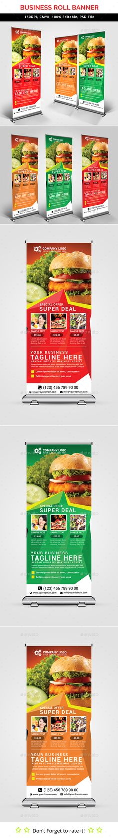 Fast Food Roll-Up Banner Template PSD. Download here: http://graphicriver.net/item/fast-food-roll-up-banner-v35/15596161?ref=ksioks