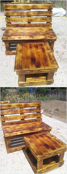 You can stylishly add your garden areas with the favorable placement of the benches and tables by the use of wood pallet in it. Although few houses do accompany the use of benches as many of them do opt for the whole furniture set created by wood pallet material.