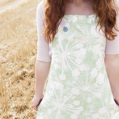 Apple Green Cow Parsley Apron from notonthehighstreet.com