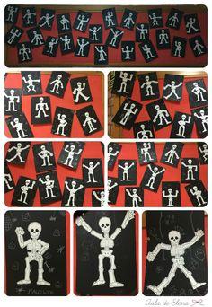 Esqueletos de Halloween en el Aula de Elena
