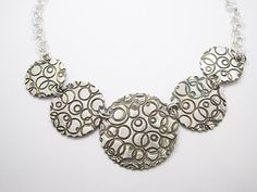Zandstorm: Halsketting in zilver (Art Clay Silver,halsketting)