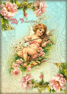 VICTORIAN VALENTINE Digital Collage Sheet Instant Download for Craft Projects…