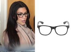 Black Frame Glasses As Seen On Kim Kardashian