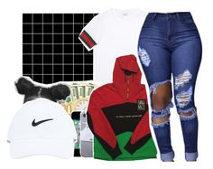 """GUCCI MANE️"" by pinksemia ❤ liked on Polyvore featuring INDIE HAIR and Gucci"