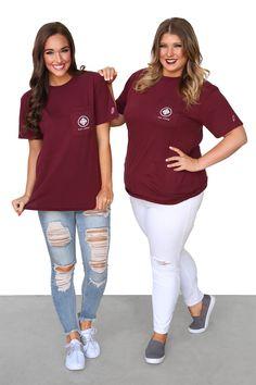 Kiki LaRue Short Sleeve Logo Tee - Maroon