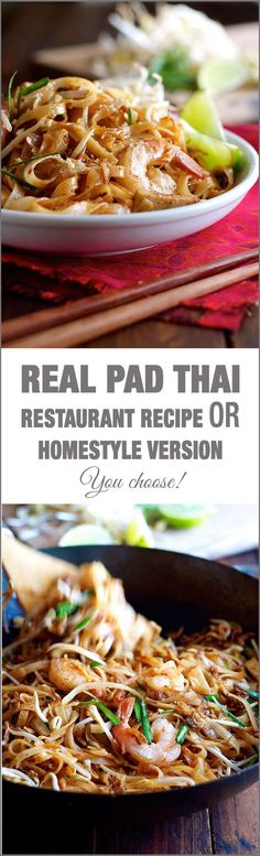 Shrimp Pad Thai - choose from 2 recipes! An everyday home version OR a real…
